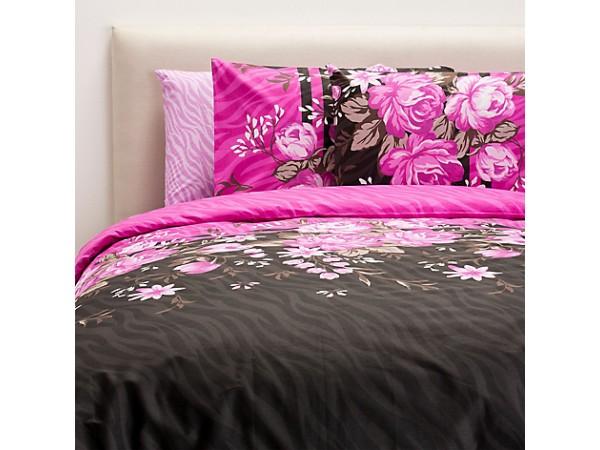 Juego de cama acolchado ZEBRAGUL FUCSIA
