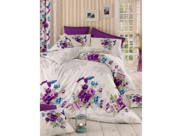 Juego de cama BIRD MORADO