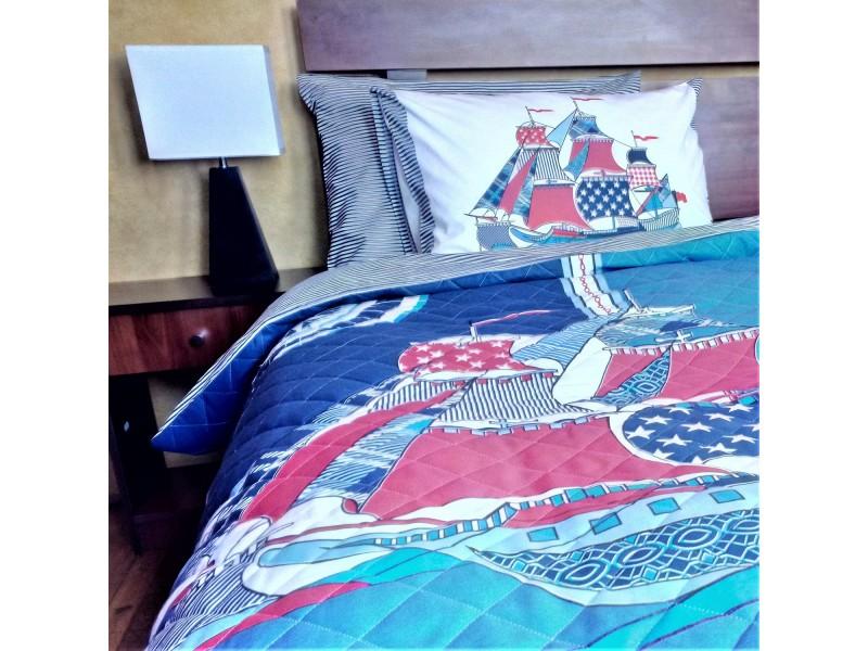 Juego de cama acolchado YELKENLI